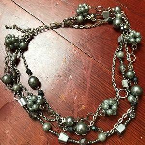 Jewelry - Beautiful Grey Strand Collar Necklace